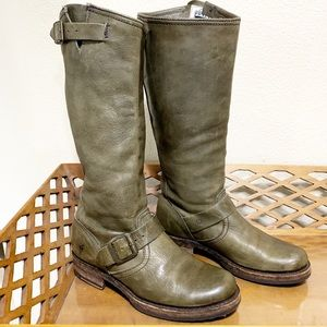 Frye Veronica Tall Slouch Boots Green Size 6.5 B
